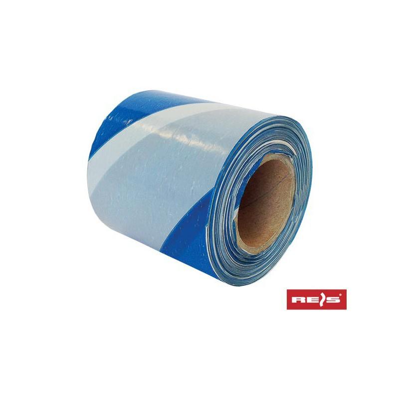Taśma ostrzegawcza biało-niebieska 100m