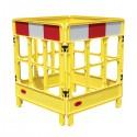 Bariera ostrzegawcza żółta 1m