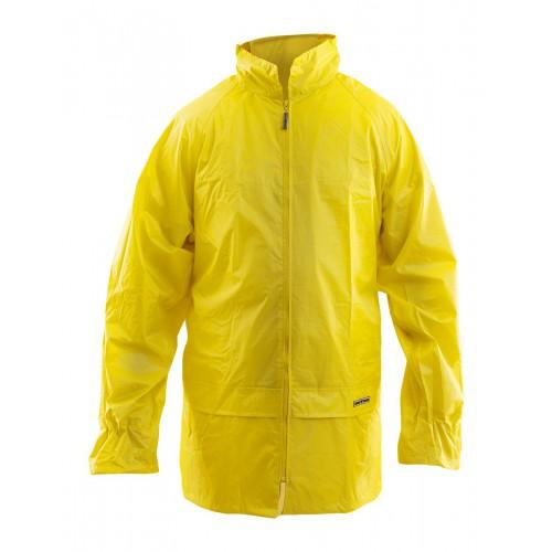 Kurtka przeciwdeszczowa Nylon żółta