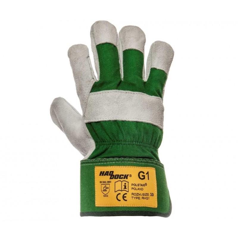 Rękawice robocze Haddock G1 zielone Kat. II